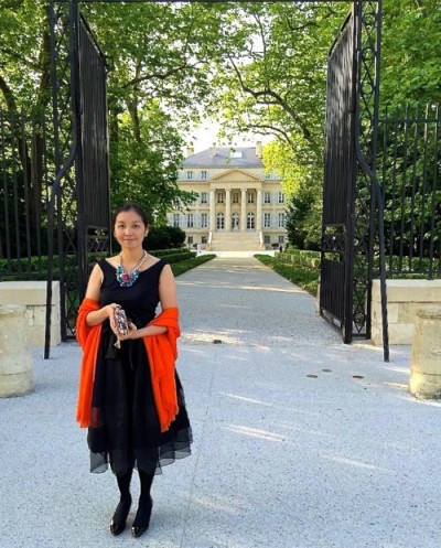 atie Chong in front of Chateau Margaux as part of her annual visit to Bordeaux as a wine importer to Hong Kong and mainland China